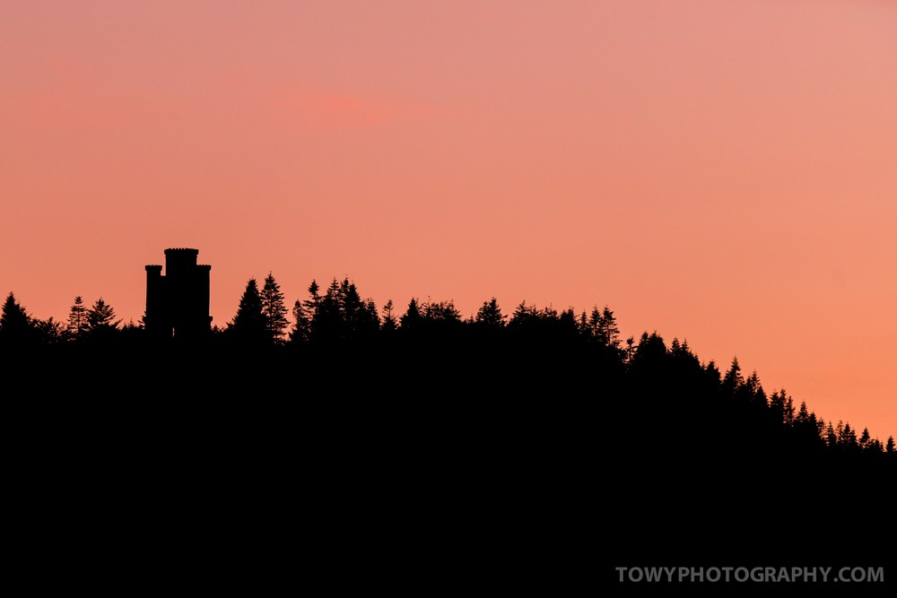Silhouette of Paxtons Tower