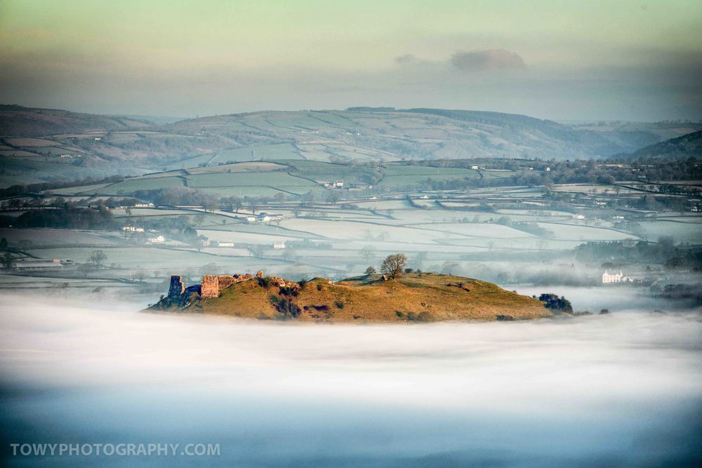 Mist and fog regularly sits in the Towy valley floor throughout the year