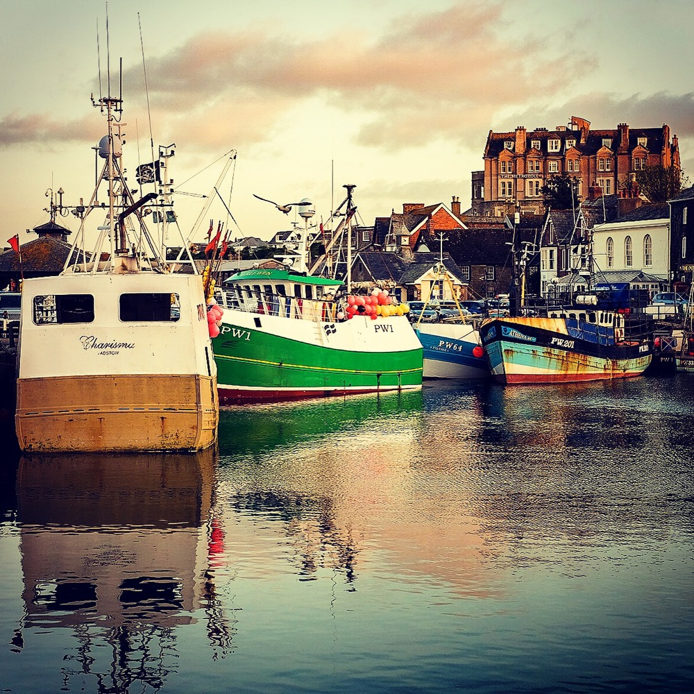instragramed picture of padstow harbour