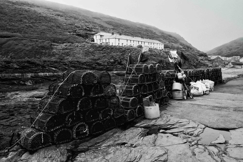 lobster pots ready to welcome GULLIBLE lobsters