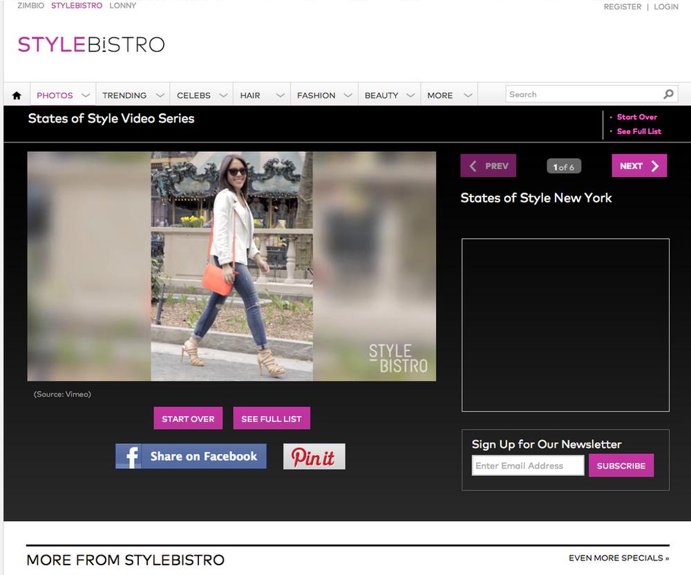 StyleBistro.com Street Style feature.
