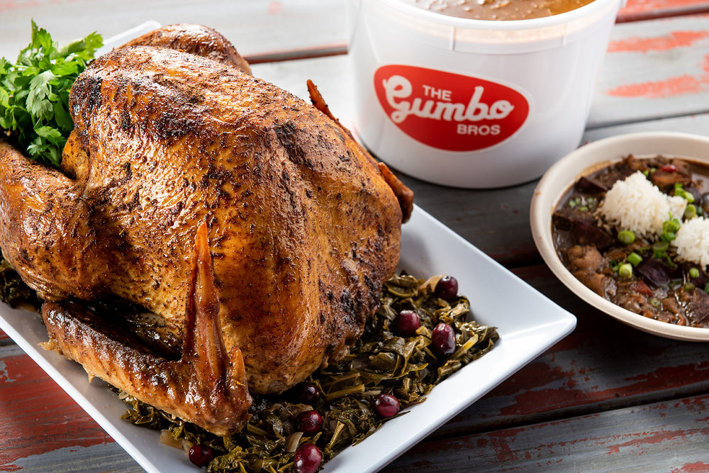 WHETHER YOU WANNA BE A POT-LUCK MVP OR JUST DON'T FEEL LIKE COOKING THIS THANKSGIVING, TEAM GUMBO HAS GOT YOU COVERED! -