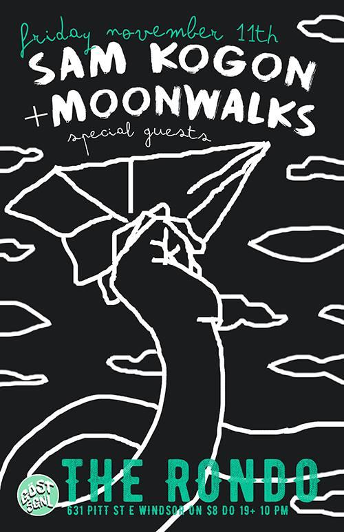 Sam Kogon / Moonwalks The Rondo: November 2016 Windsor ON (CAN)