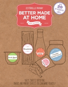 Better Made at Home Salty, Sweet, Satisfying Snacks and Pantry Staples You Can Make Yourself Estérelle Payany Instead of buying mass-produced, often unhealthy food products, why not make your own? From crisp sesame crackers to Greek yogurt to tapenade, let the more than 80 simple and delicious recipes in Better Made at Home stock your pantry with staples that are better tasting and better for you.