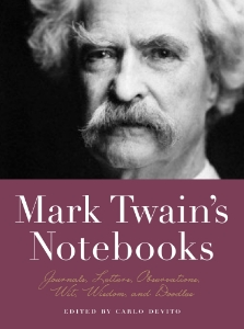 Mark Twain's Notebooks Journals, Letters, Observations, Wit, Wisdom, and Doodles Edited by Carlo DeVito Mark Twain's Notebooks combines journal writings with rarely seen sketches and doodles, creating a fascinating and often hilarious archive of thoughts, ideas, and observations of the father of American literature.