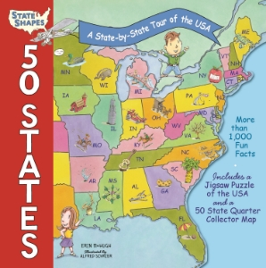 50 States A State-by-State Tour of the USA Erin McHugh Illustrated by Alfred Schrier Based on Black Dog's successful State Shapes series, this great big guide to the country is a unique, fun-filled way for kids to learn everything there is to know about all 50 states!