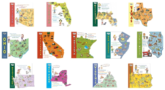 The State Shape Series Arizona, California, Florida, Illinois, Massachusetts, Minnesota, New Jersey, New York, Ohio, Pennsylvania, Texas, Virginia, and Washington A state-by-state celebration of America, the State Shapes series is an exciting collection of distinctive kids books, each one custom die cut to the shape of the featured state. These books are packed with fun information including a short history, famous figures, geography, industry and environment. These books are sure to be a hit with 8-12 year olds--and grown-ups, too!