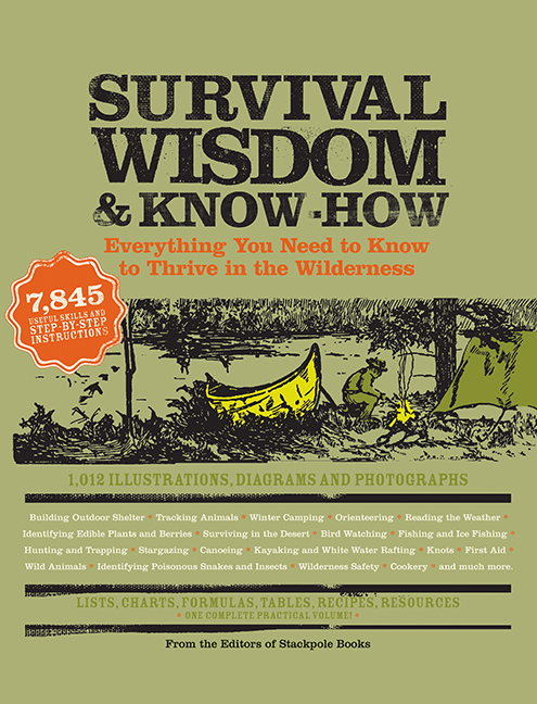 Survival Wisdom & Know-How Everything You Need to Know to Subsist in the WIlderness From the Editors of Stackpole Books A large-scale practical guide jam-packed with information on every aspect of outdoor life and adventu