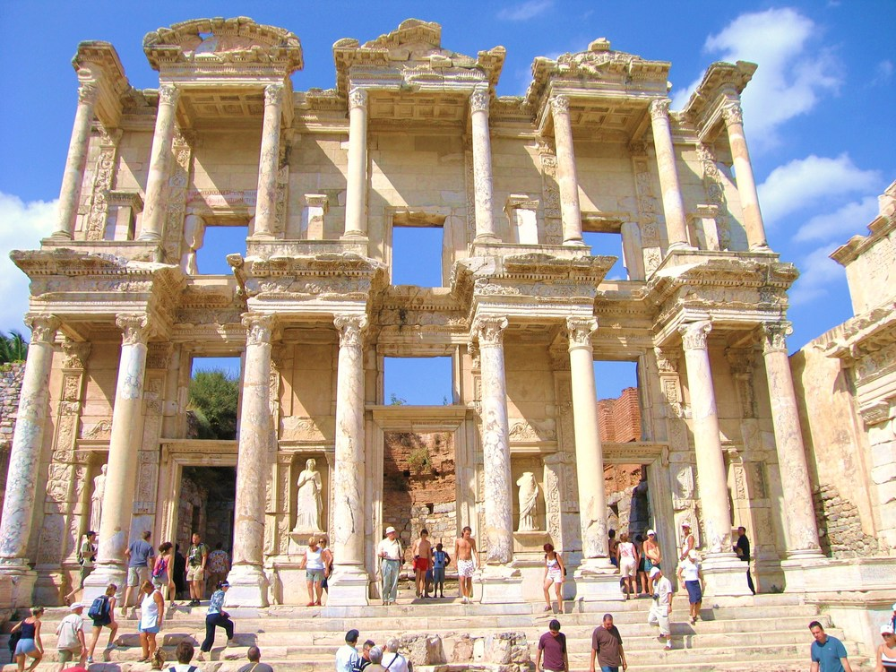 the Library of Celsius in EPHESUS