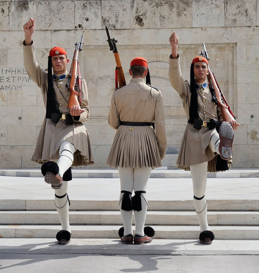 changing of the guards in syntagma square