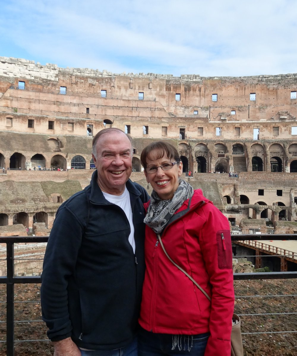 Tom & faye at the COLOSSEUM in rome