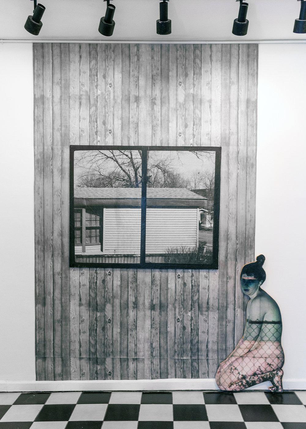 Dining Room Window + Figure (fence)