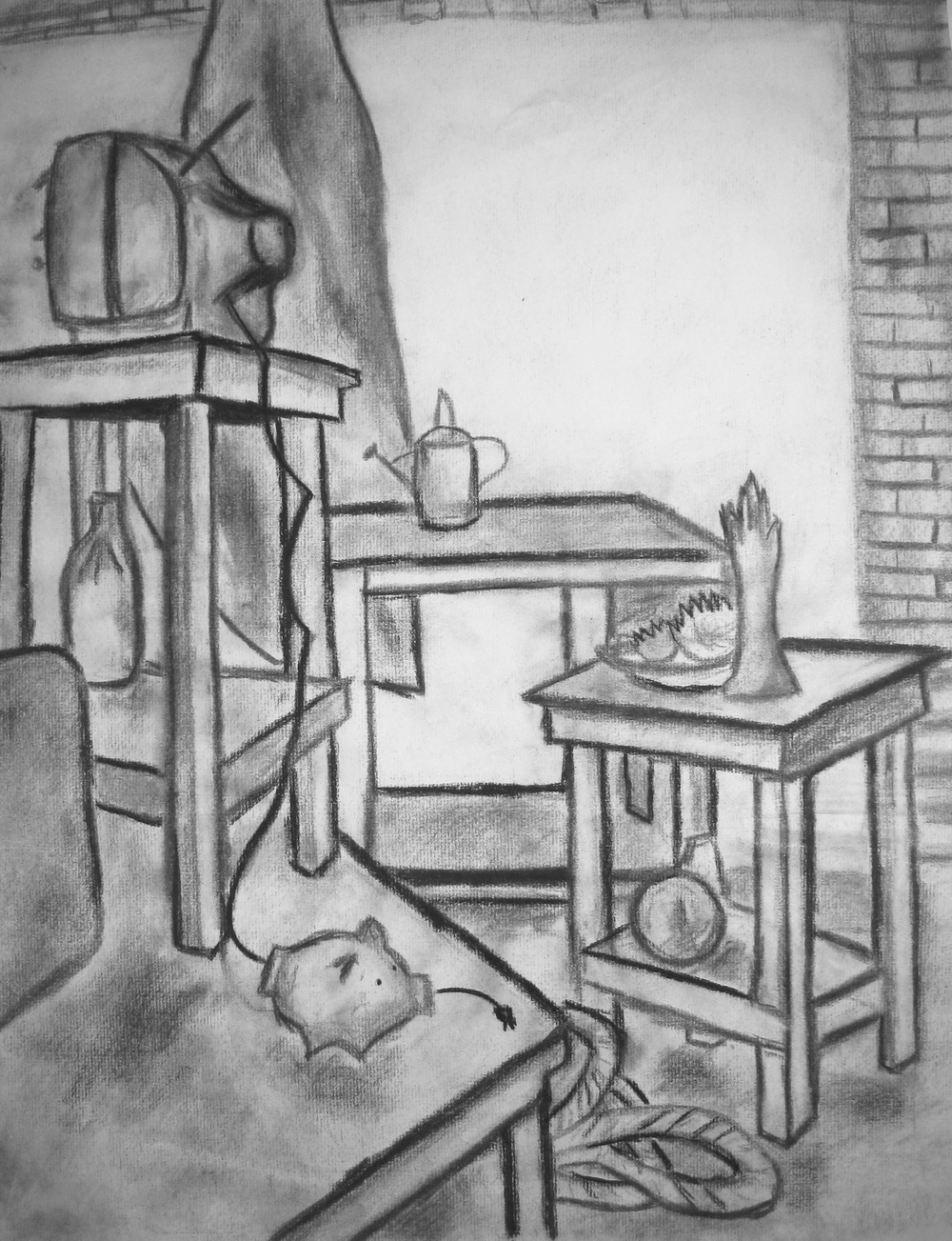 Still Life, Charcoal, 2010