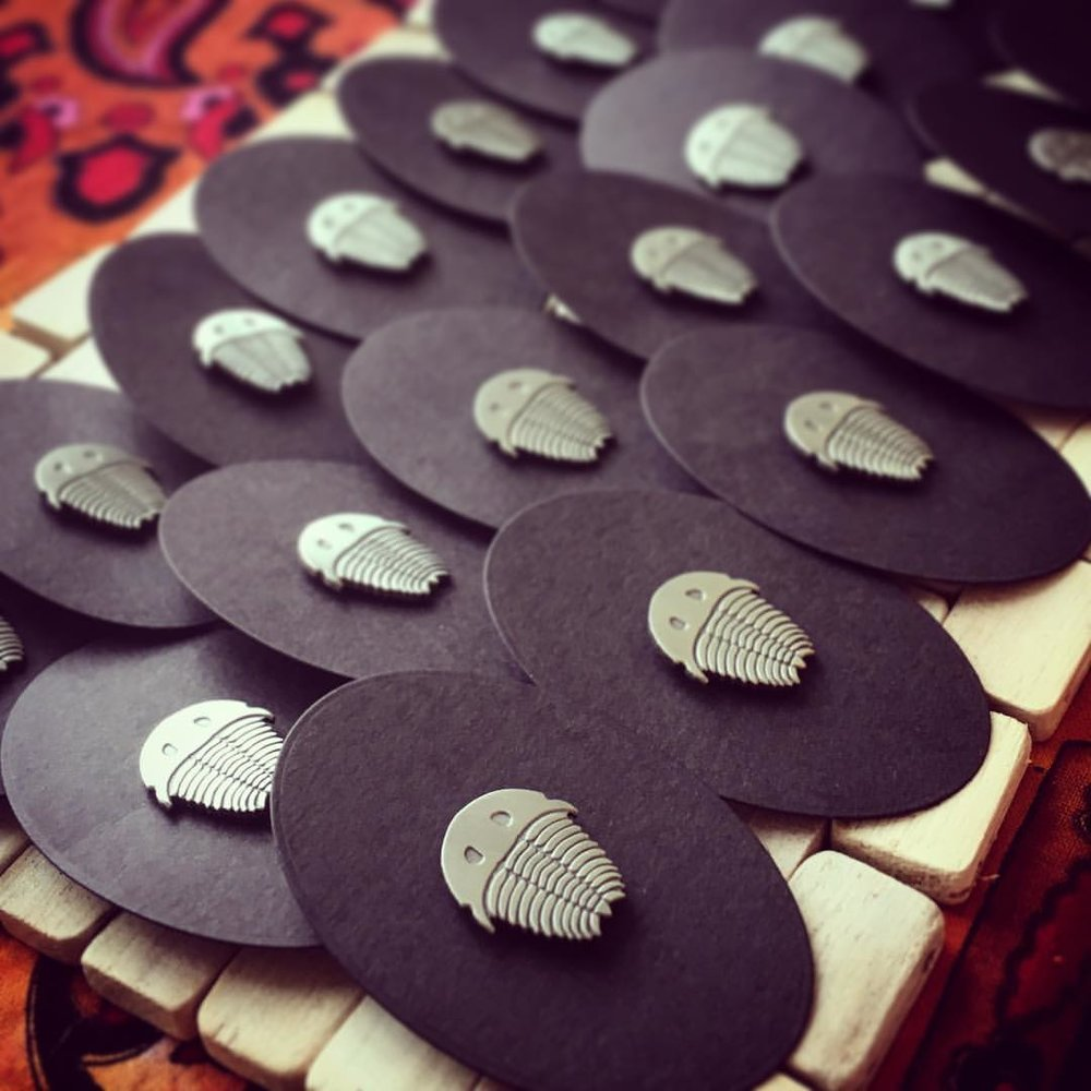 Each little Trilobite arrives on his/her own hand numbered oval backing card.