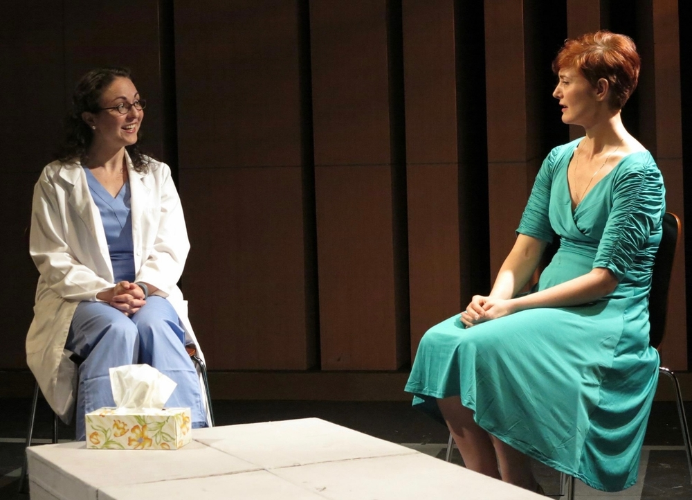 Megan Grace as Justine Ross with Maeve Yore as Harper Regan - Photo Credit by Remy.S
