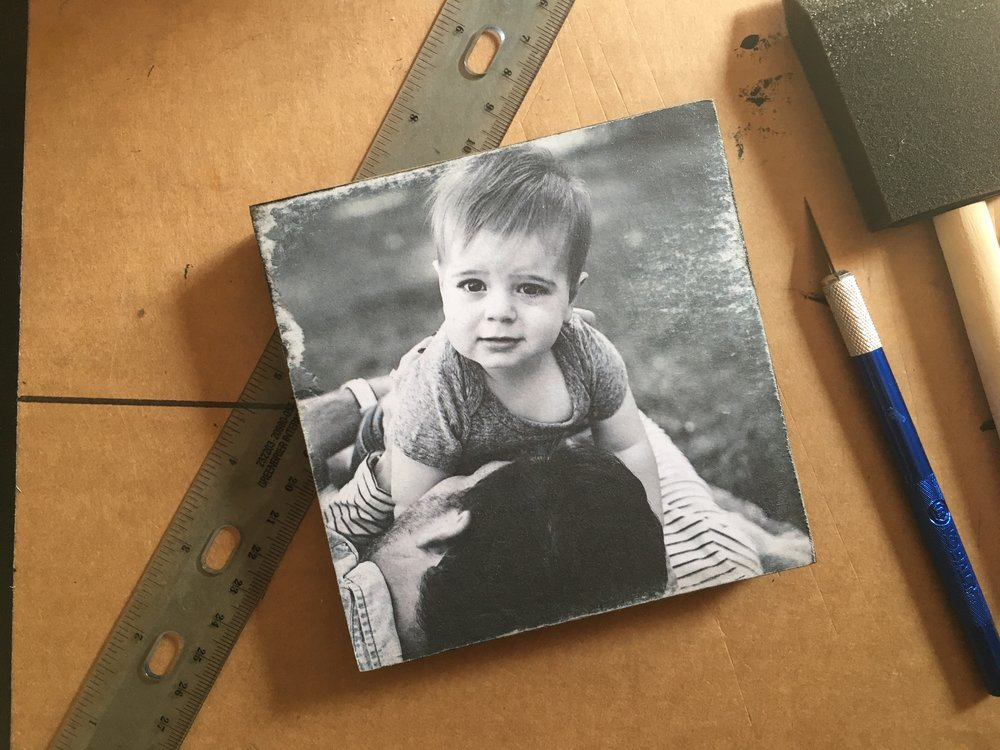 Print your photos! DIY art to wood, done with Mod Podge and a little bit of elbow grease. ;)