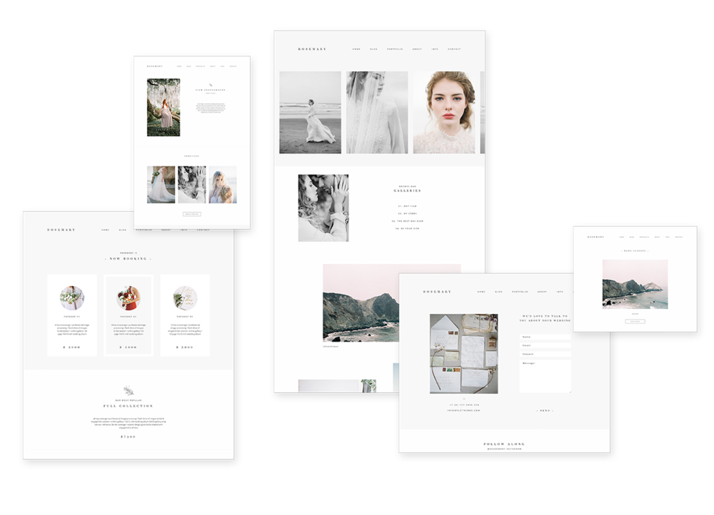 fine art film photography wordpress theme