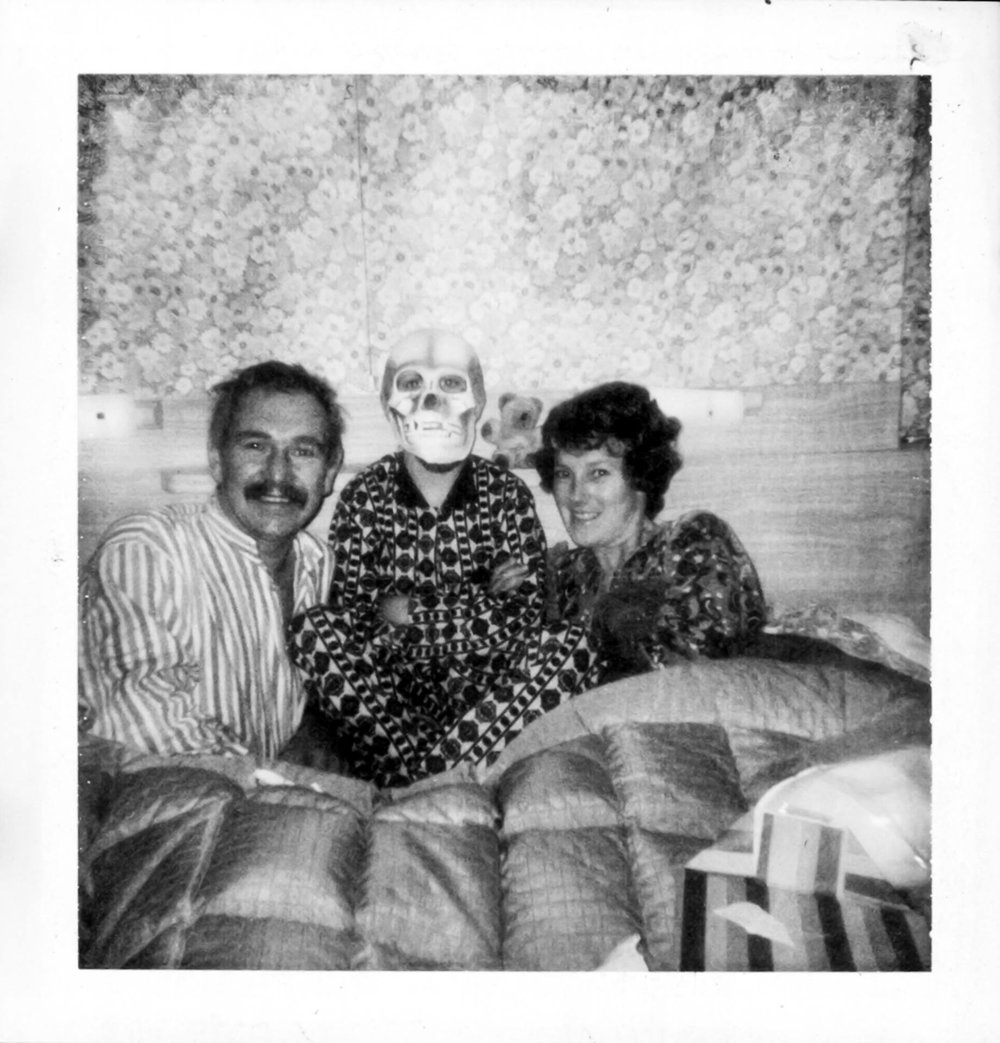 My parents visited, bringing with them a photo album from my childhood - it contained 65 polaroids I'd taken in 1974/75.  Last year my brother died. This is a photo I took of David with Mum & Dad in 1974. This is the best photo from last year that I possess -  Andrew Billington