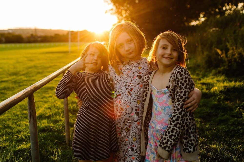 """My daughter and her best mates in the summer holidays. They all have a print of this. Dirty, tired, full of energy. I do hope they remember what a great day we all had""  Kelly at  Paul Joseph Photography"