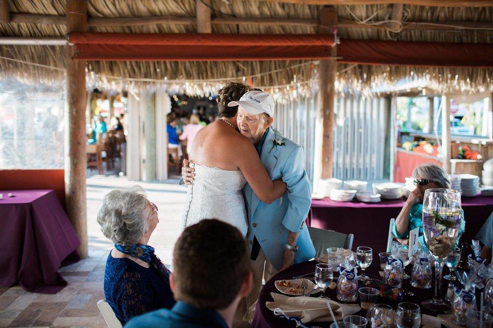 elderly relatives at weddings