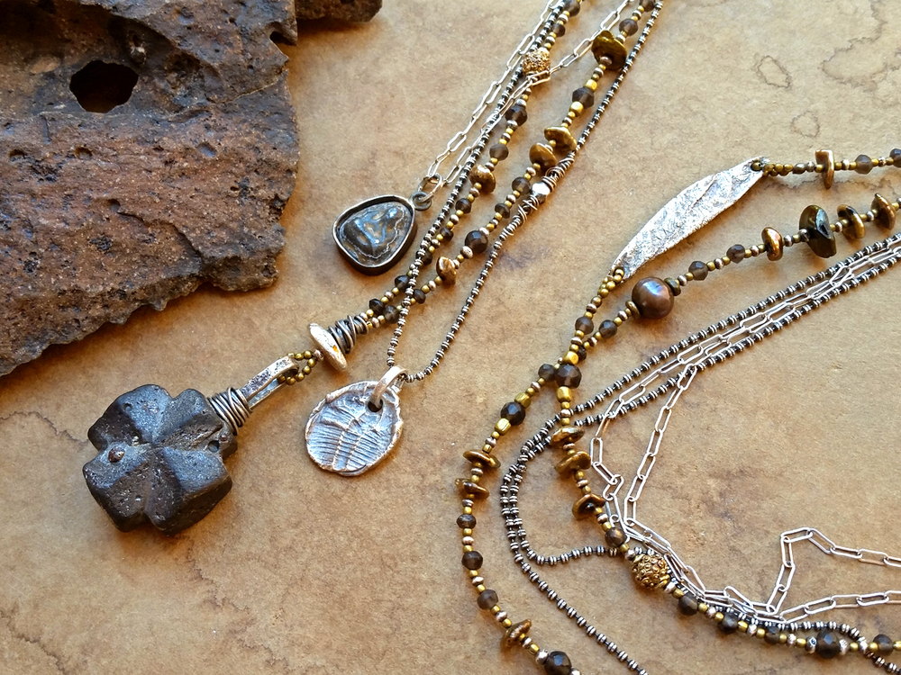 The Taos Rustic layering trio, just listed in my Etsy shop.