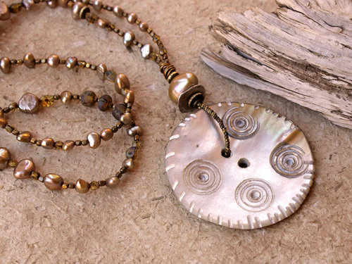 listing jewelry upcycled pearl of pendant button il necklace mother