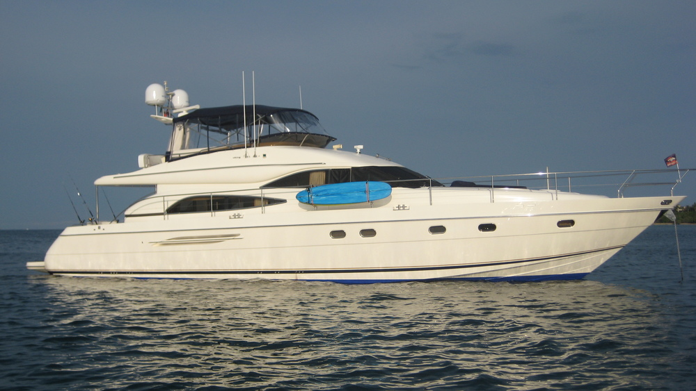 65' Princess under full time management with E2 Yacht Services