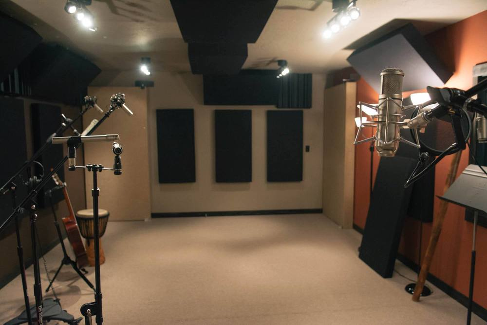 Another view of the tracking room, from next to the isolation booth (not pictured)