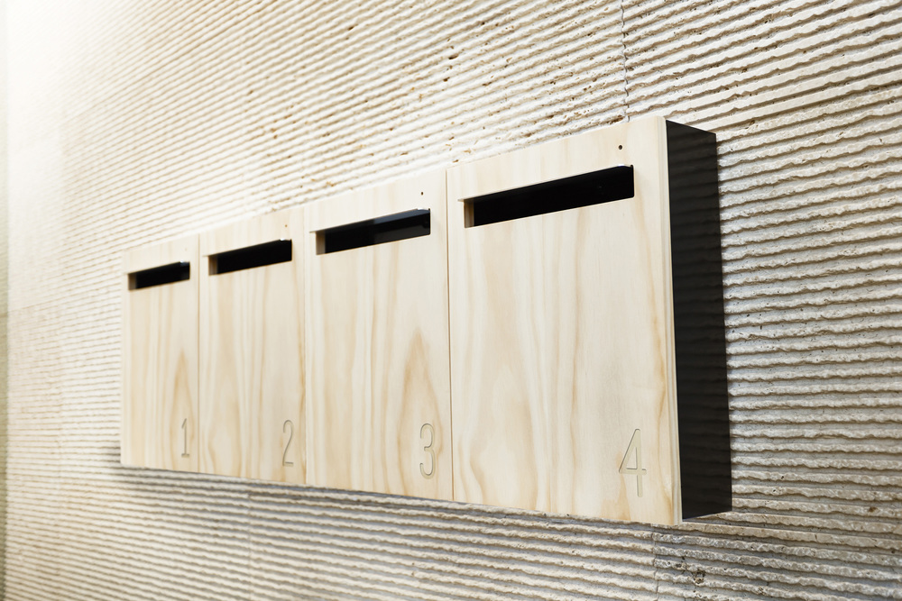 Multiple Wall Mounted Letter Boxes With Numbers