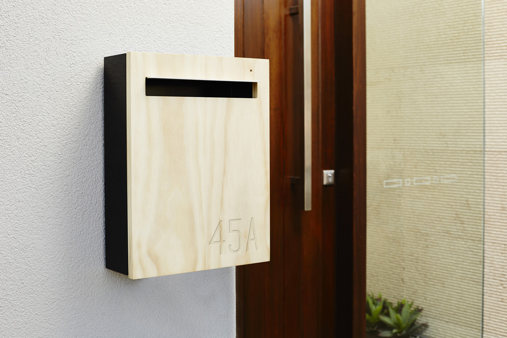 Wall Mounted Mailbox With Engraved Numbers
