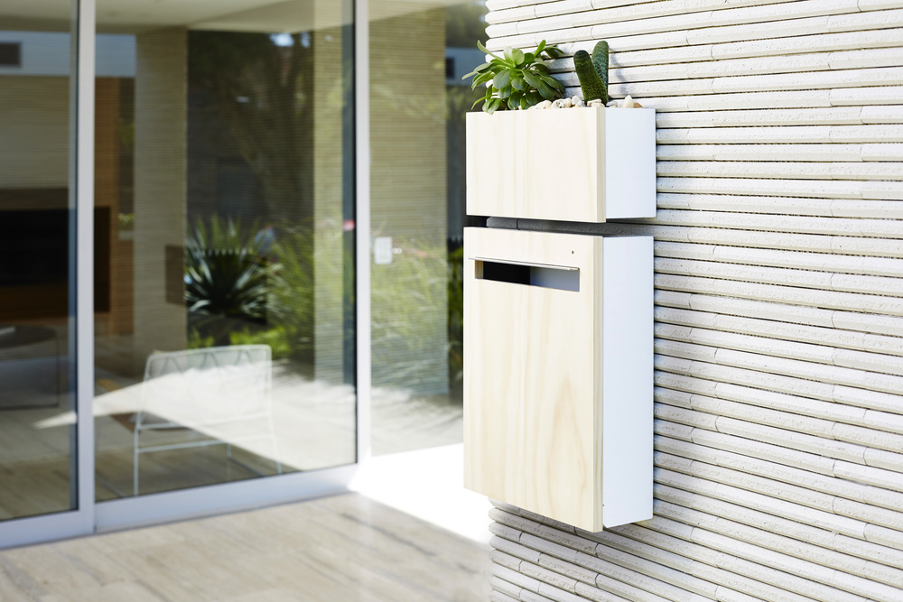 Wall Planter Box & Mailbox Combination