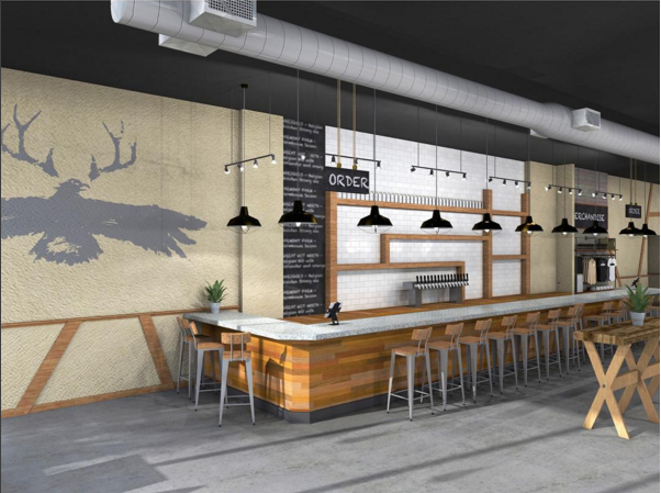 Rendering of the soon to be open Lakes & Legends Brewing Company taproom