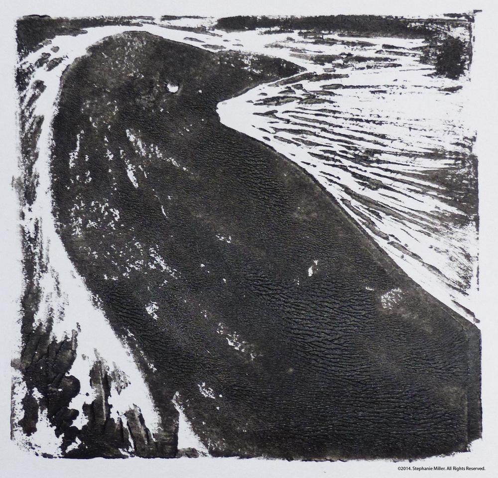 Raven Block Print