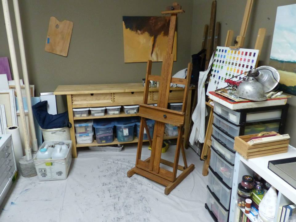 This is my studio the day I moved in.
