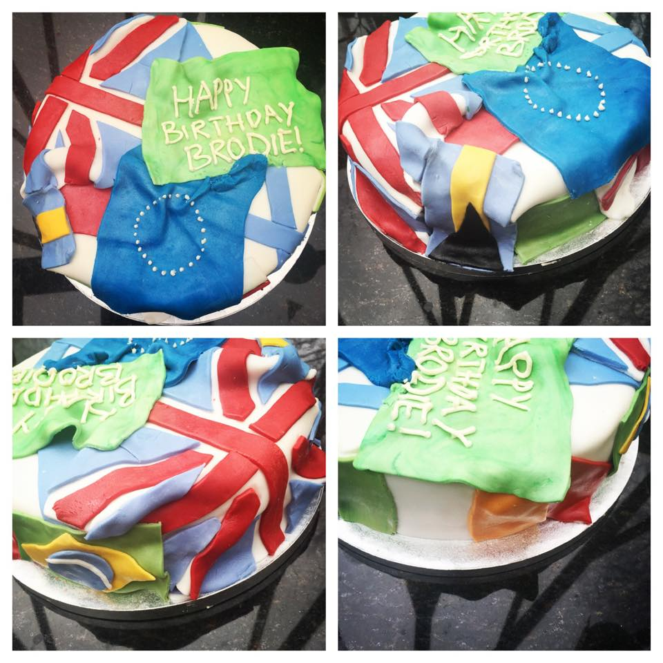 Flags cake