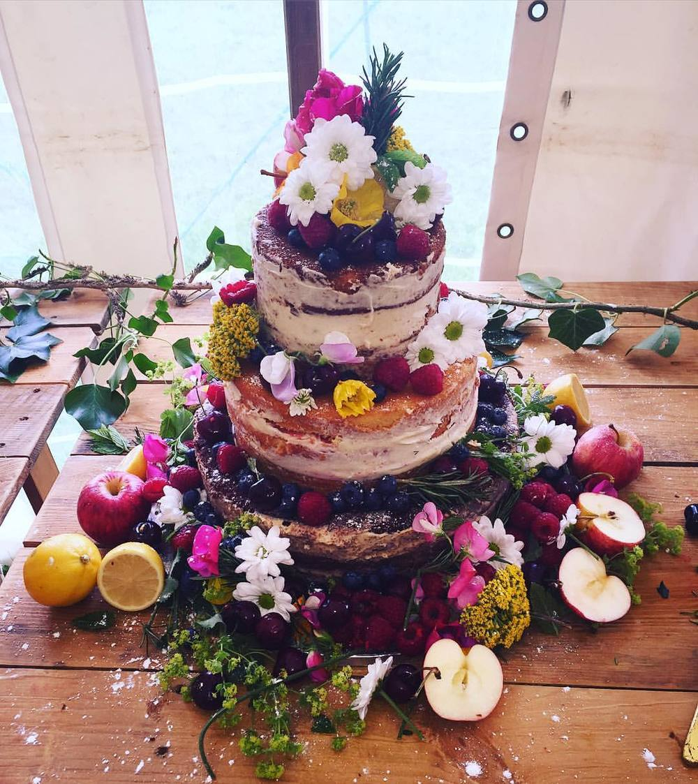 """Viking"" Naked Wedding Cake."
