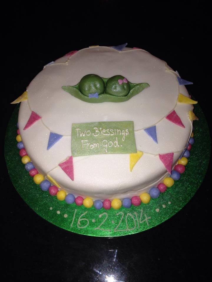 Twins' Christening Cake.