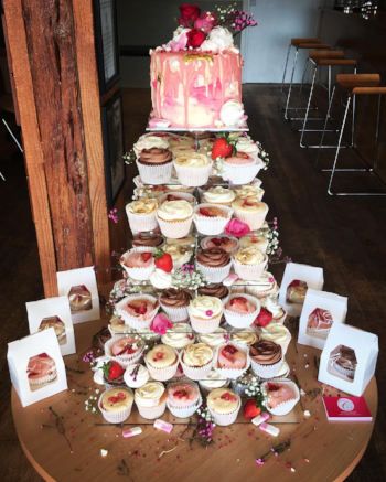 Summer Wedding Cupcake Tower