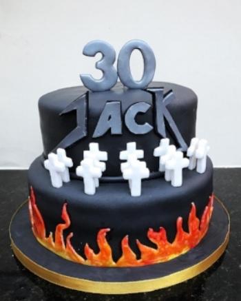 Metallica Inspired Cake