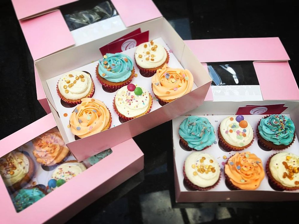 Company Colour Themed Cupcakes.
