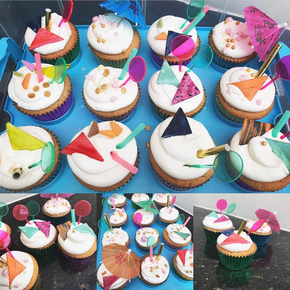 Club Tropicana Inspired Cupcakes.