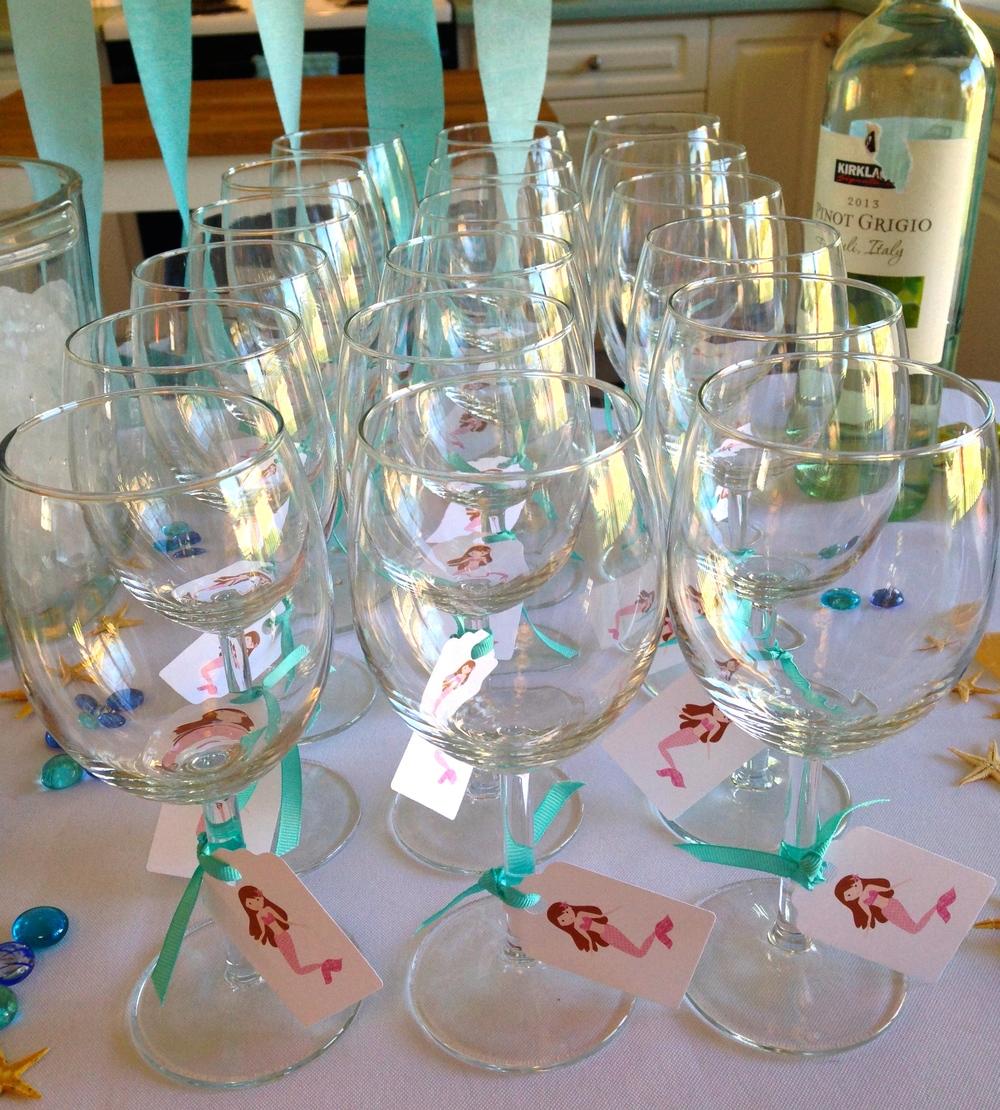 Ikea Wine Glasses With Mermaid Graphics Purchased Fromu0026nbsp; Petittatti On  Etsy U0026nbsp;printed On