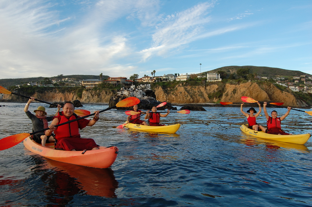 Kayaking Emerald Bay Laguna Beach