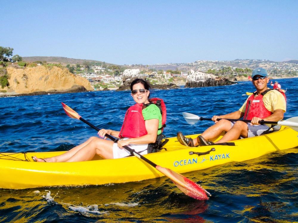 Fun Kayaking Tour Laguna Beach