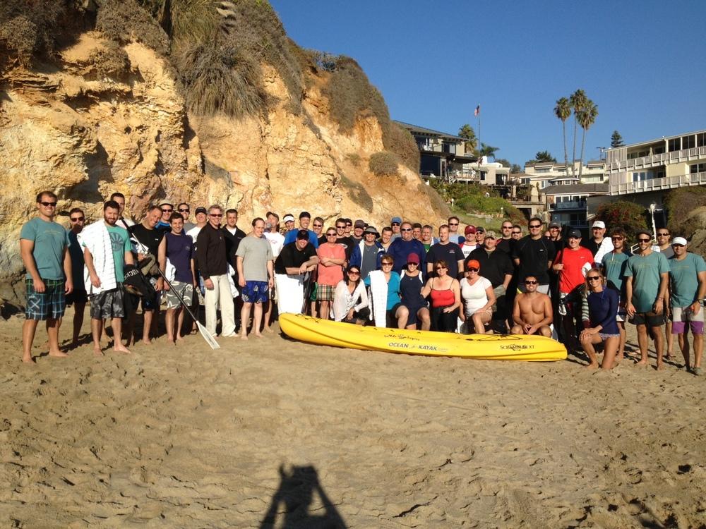 Kayaking Large Group Laguna Beach