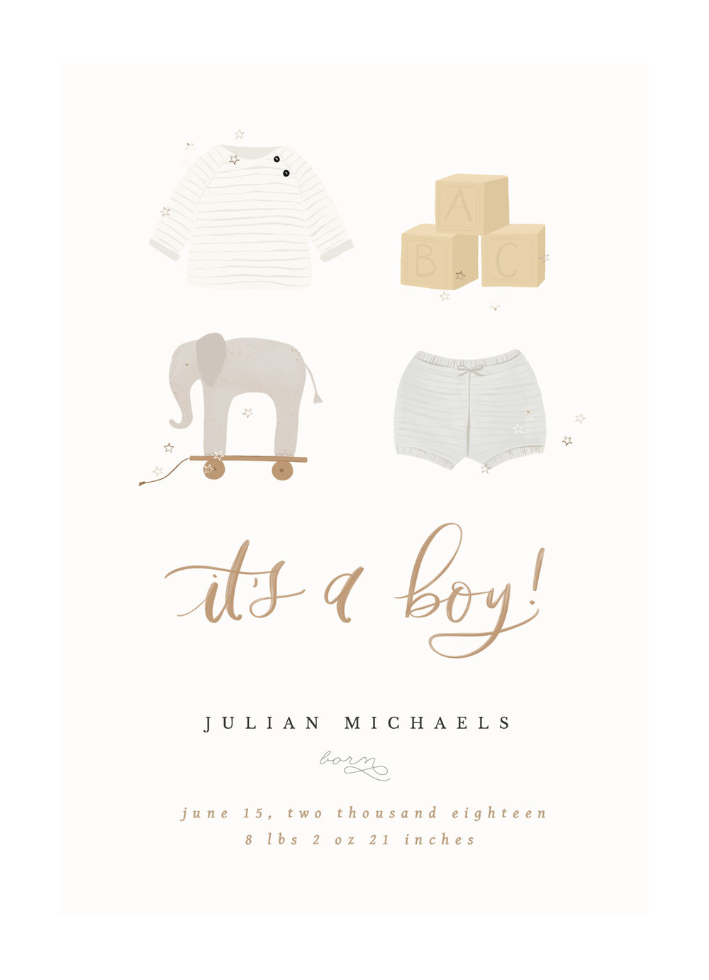 """Illustrated Baby Boy Collection   The following is placeholder text known as """"lorem ipsum,"""" which is scrambled Latin used by designers to mimic real copy. Vivamus sit amet semper lacus, in mollis libero. Lorem ipsum dolor sit amet, consectetur adipiscing elit."""
