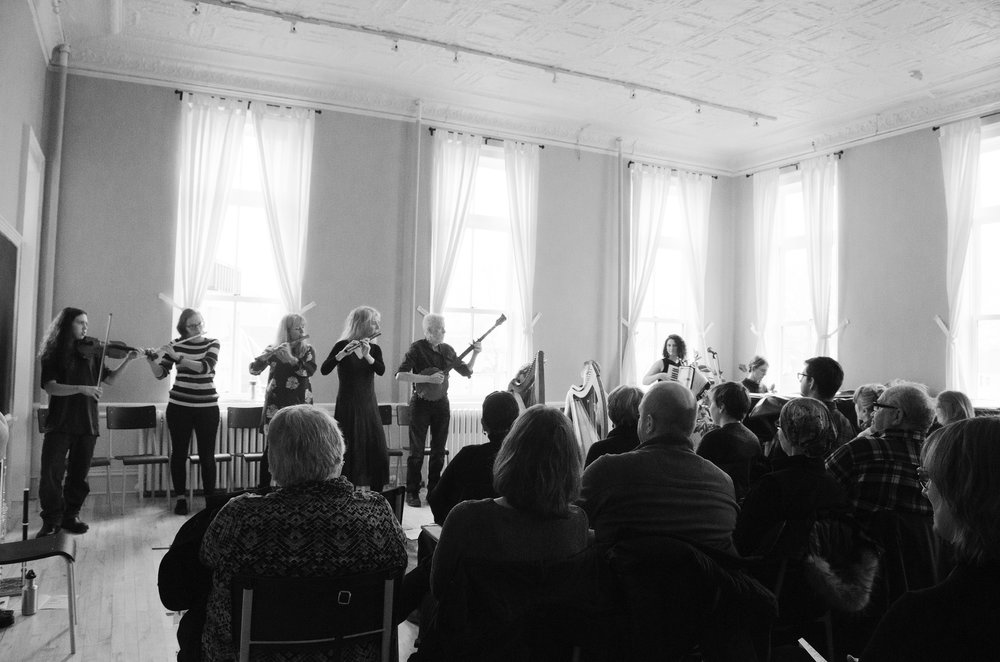 Trad Ensemble in concert March 24, 2018. Proceeds went to help youth in the ensemble attend the Boxwood Festival in Lunenburg in July. Photo: Angela Doak