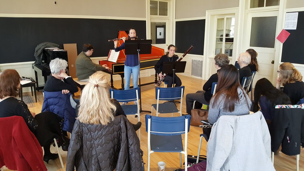 Baroque style workshop during Woodwinds & Brass Chamber Day, Feb. 2018