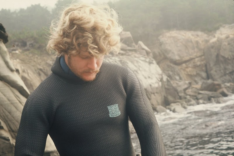 Co-founder David Garrison after a dive near Monterey in 1975