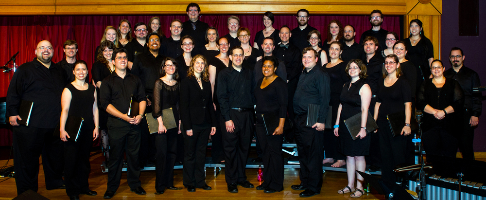 Six Degree Singers before their Sixth Anniversary concert at Marymount University in Spring 2015